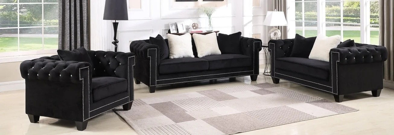 Black Living Room Furniture Sets For Less Overstock - Cheap Black Furniture