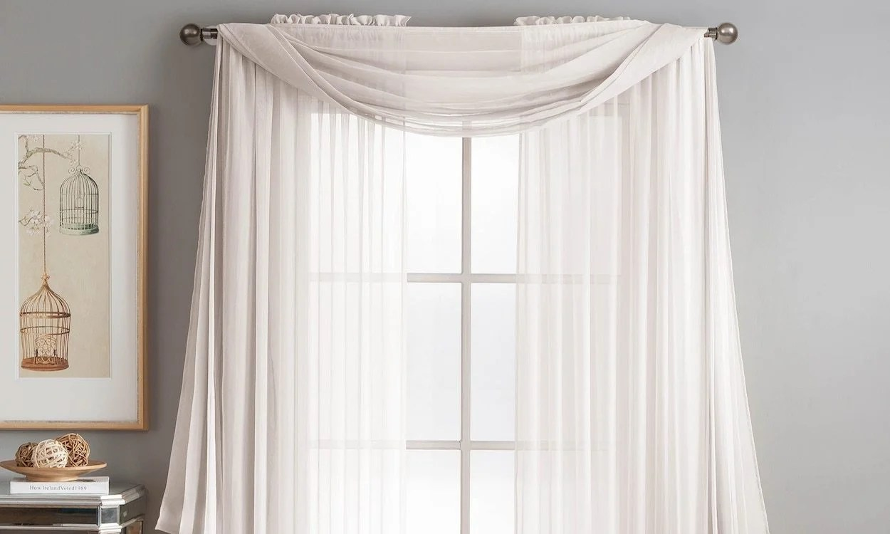 Draping Curtains How To Drape A Scarf Valance In 4 Simple Steps Overstock
