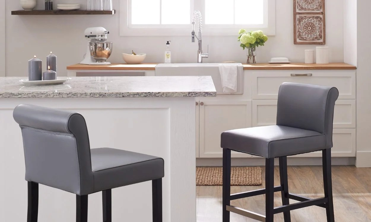 Best Kitchen Stools The 3 Best Counter Stool Upholstery Materials Overstock