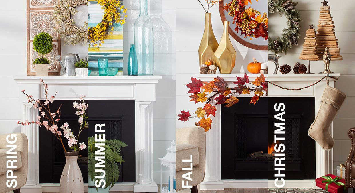 6 Ft Fireplace Mantel Mantel Decorating Ideas By Season Overstock Tips Ideas