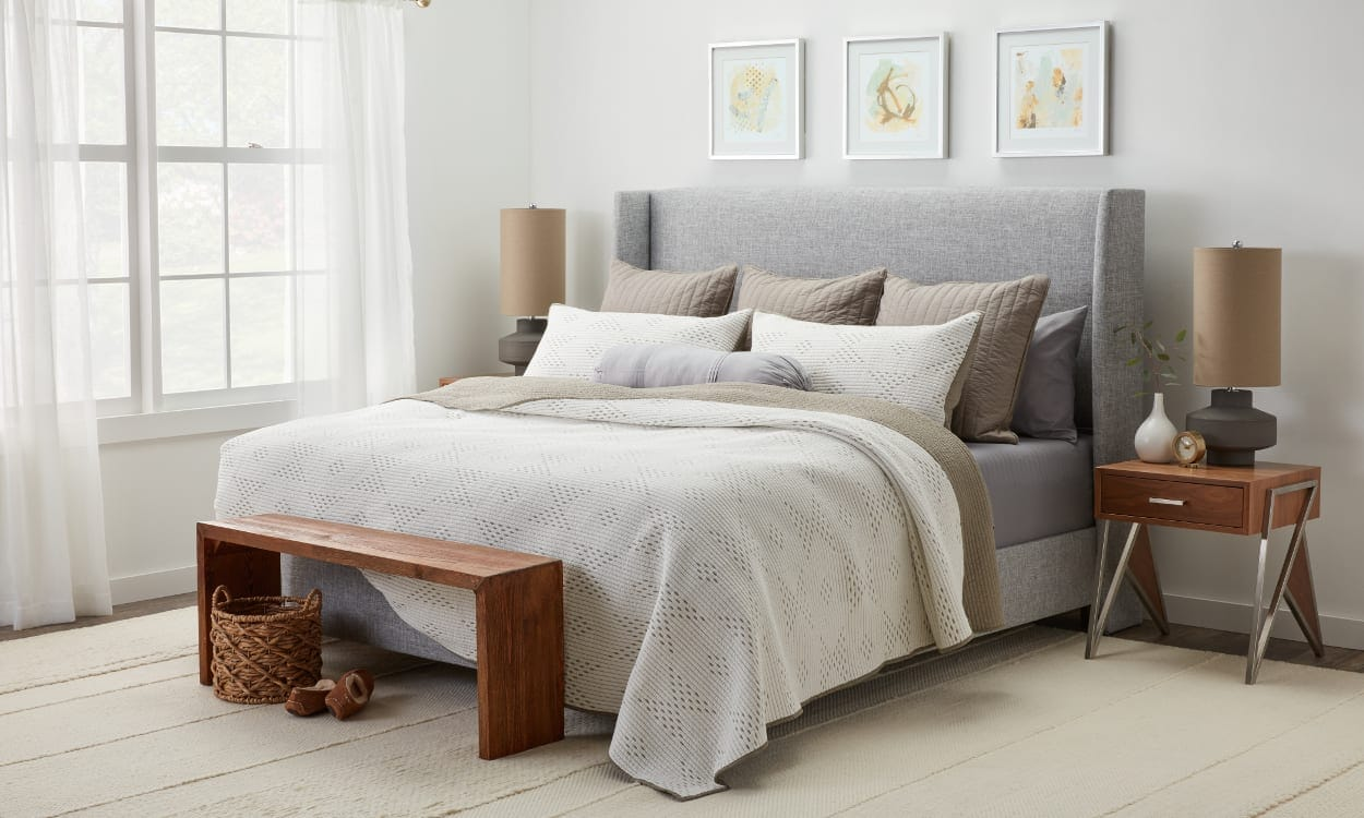 King Size Bed Throws 12 Ways To Arrange Pillows On A Bed Overstock