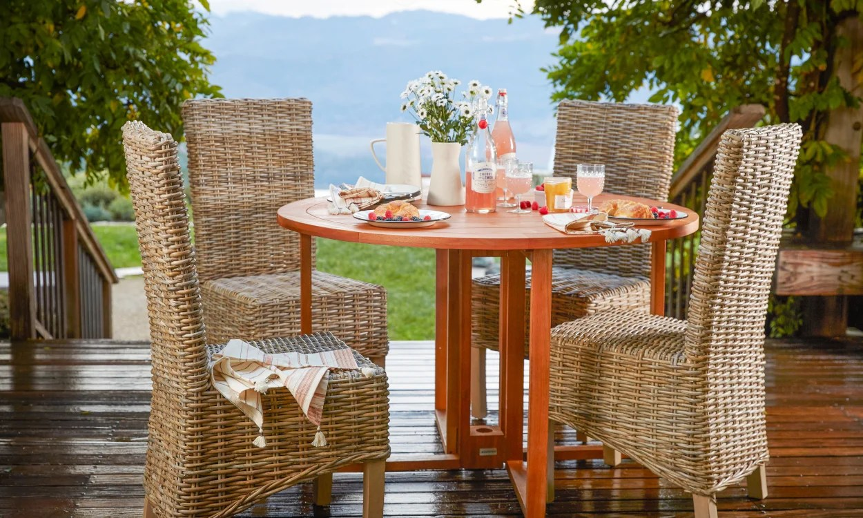 Outdoor Patio Furniture Dining Table How To Choose The Perfect Patio Table Overstock