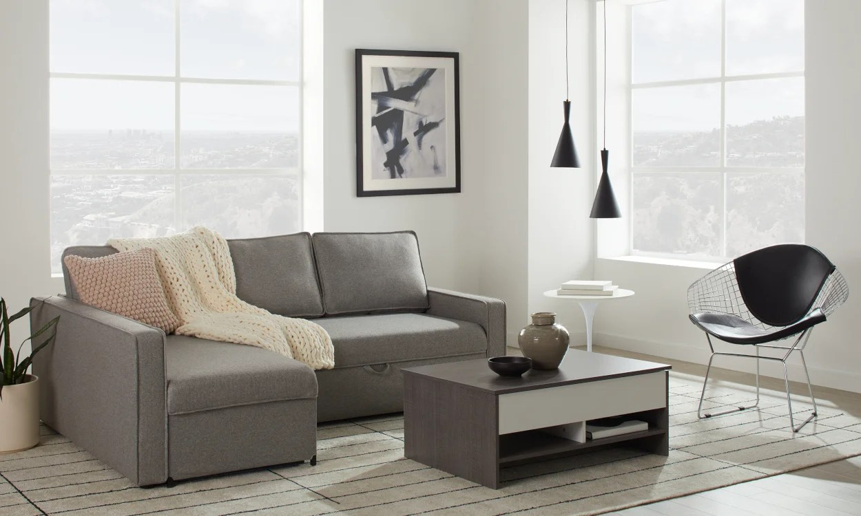 Gray Sofas For Living Room Small Sectional Sofas Couches For Small Spaces Overstock