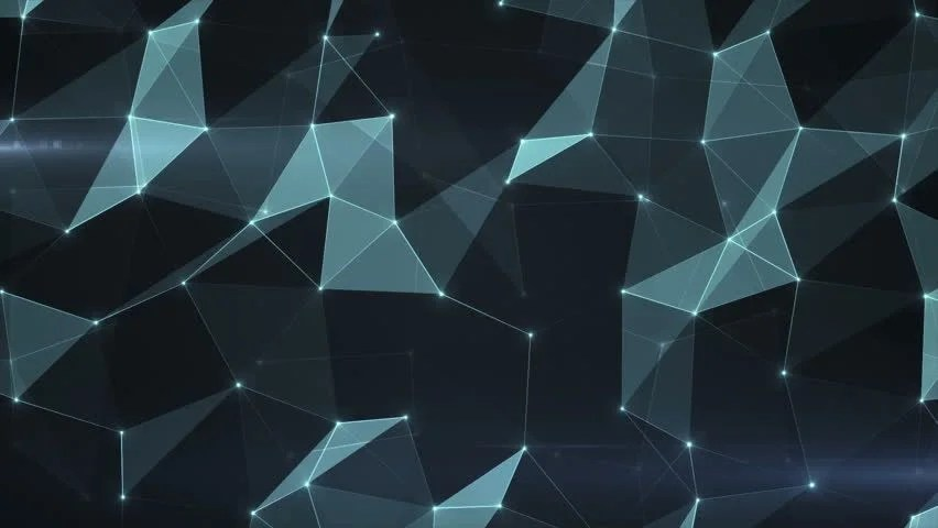 Black Metallic Wallpaper Blue Abstract Tech Polygons With Space For Text 4k Looped