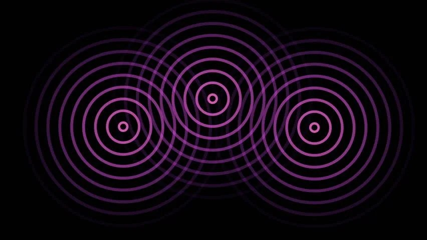 Stock video of animation of 3 circles or radio 12702794 Shutterstock - animation circles