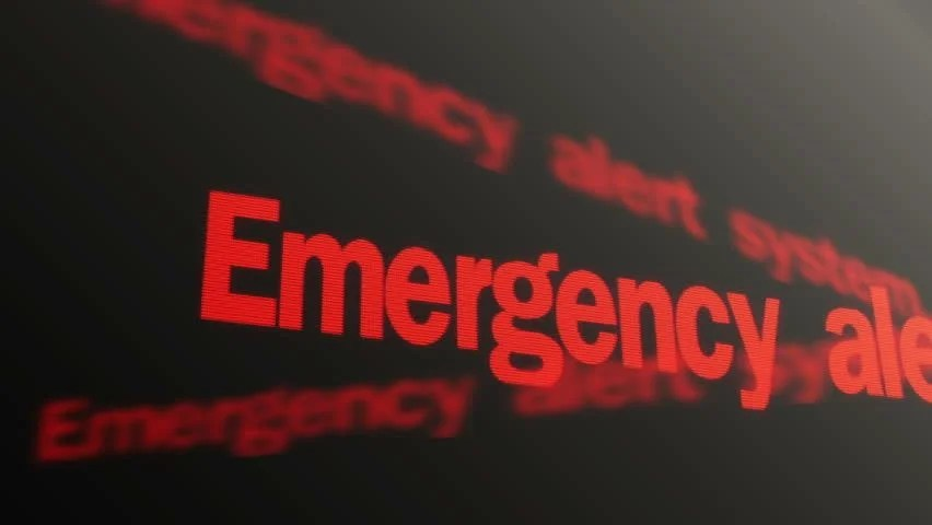 Emergency Alert System Please Stand Stock Footage Video (100