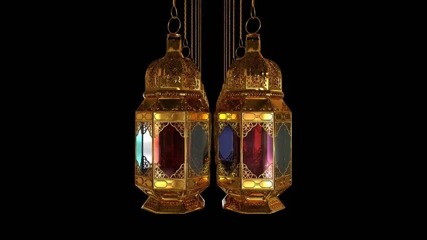 Eid Mubarak Wallpaper 3d Traditional Ramadan Lantern And Islamic Rosary Islamic