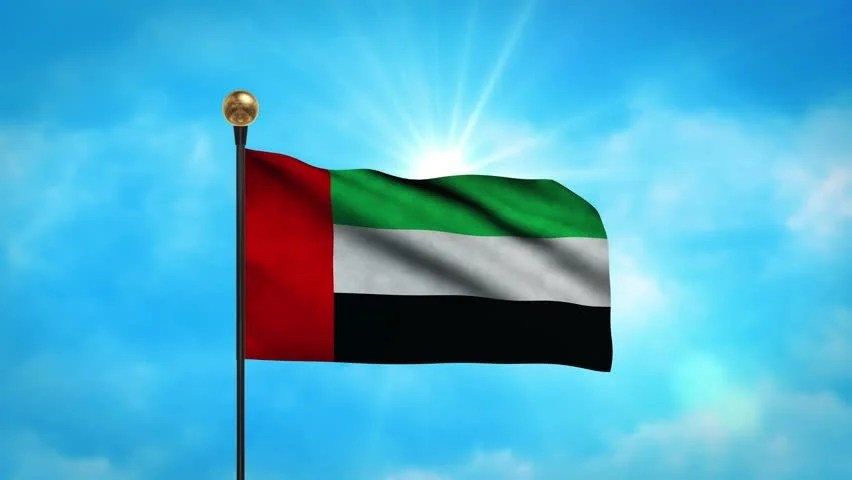 3d Moving Animation Wallpaper Download Flag Of The United Arab Emirates Stock Footage Video
