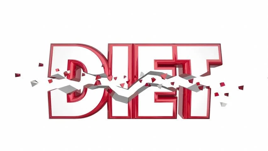 Diet Word Breaking Weight Loss Stock Footage Video (100 Royalty