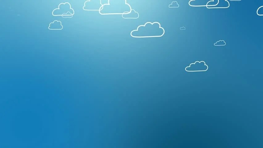 Your Cute Wallpaper Blue Cloud Computing Icon Painted Stock Footage Video 100
