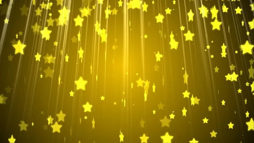 Animated Christmas Lights Wallpaper Hd Golden Stars Particles Animated Background Stock