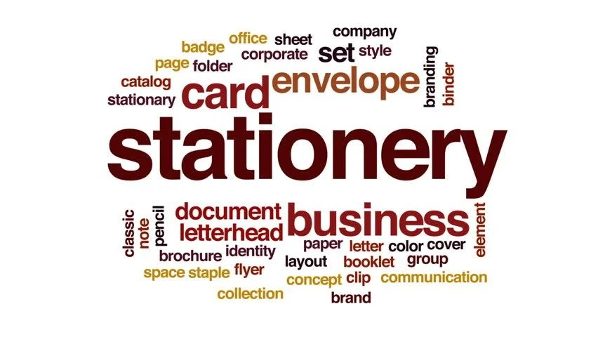 Stock video of stationery animated word cloud, text design - stationery for word documents