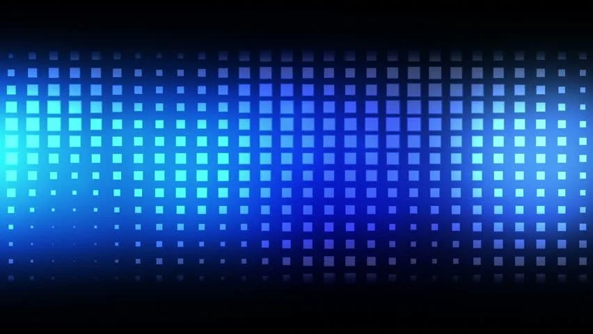 Moving Blue Squares Against a Stock Footage Video (100 Royalty-free