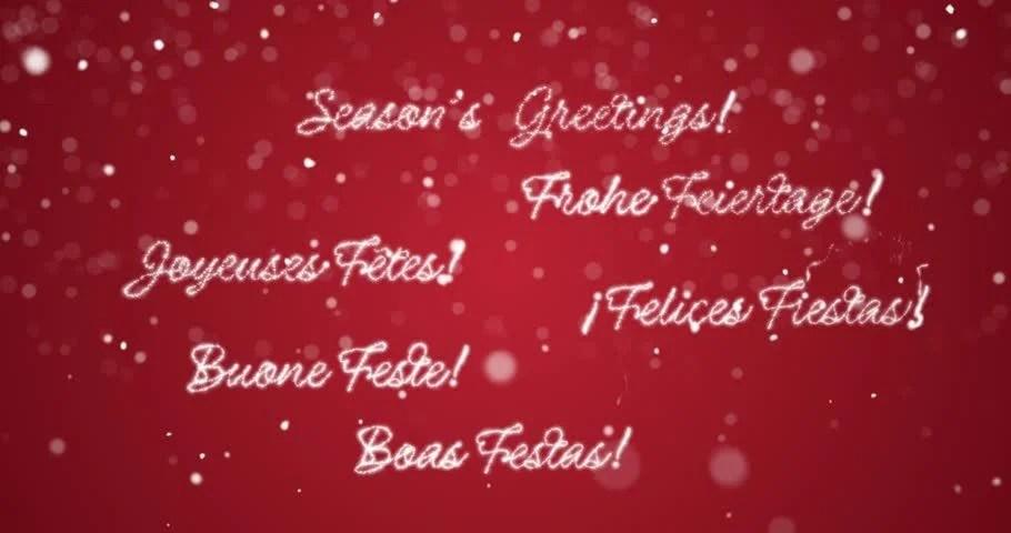 Looping Seasons Greetings Message in Stock Footage Video (100