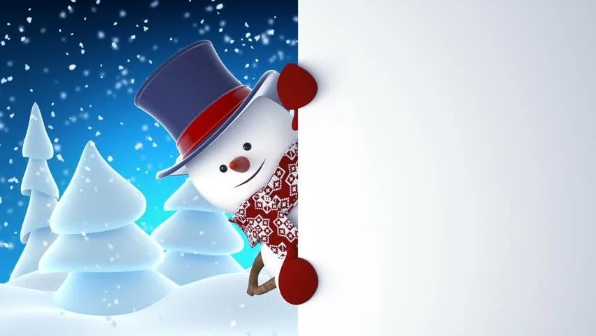 Christmas Santa Hd Wallpapers Snowman With Face And Hat Image Free Stock Photo