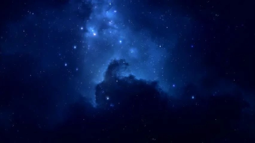 Night View Hd Wallpaper Blue Night Sky With Stars In The Dark Image Free Stock