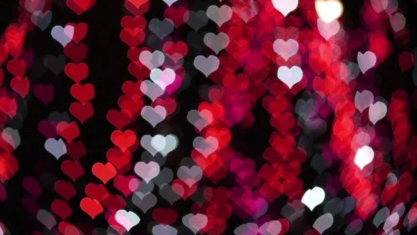 Cartoon Animation Wallpaper Free Download Floating Hearts On Black Background Animation For