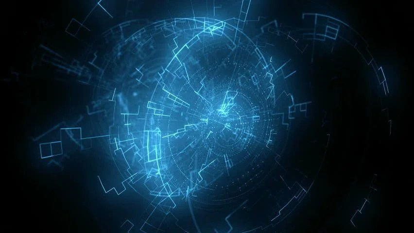 Abstract Animated Background with Electrical Stock Footage Video