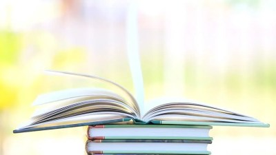 Book Stack Open Page Heart Shape In Wind, Green Garden Background Stock Footage Video 6353327 ...