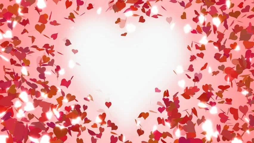 Rose Petals Falling Wallpaper Transparent Gif Stock Video Of Hearts Falling Glitter Animation