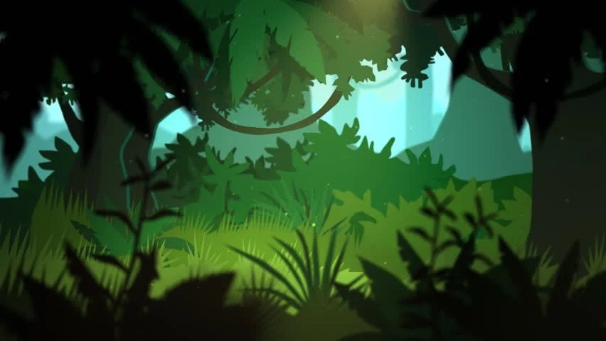 01811 Dense Tropical Rainforest During Stock Footage Video (100