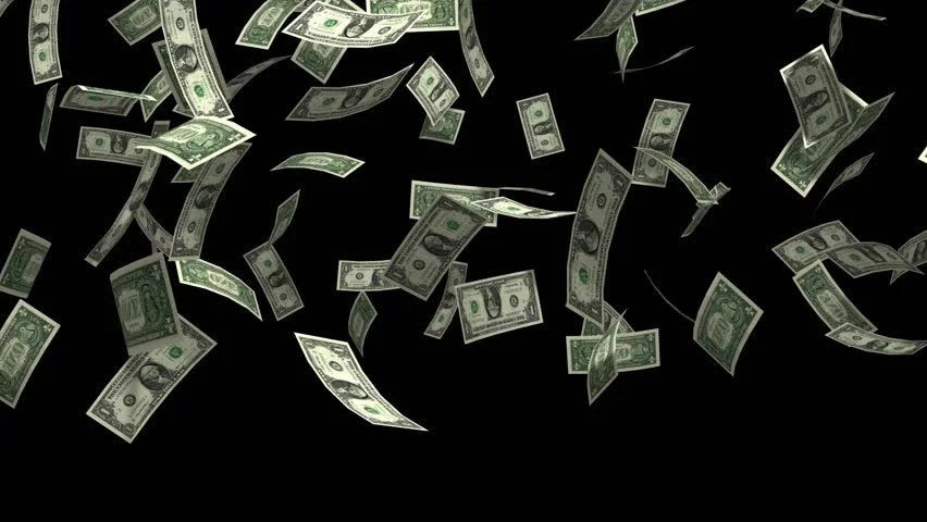 Falling Money 3d Wallpaper Money Rain 3d Animation With Alpha Matte Stock Footage