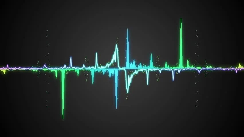 Waveform Background for Club, Radio, Stock Footage Video (100