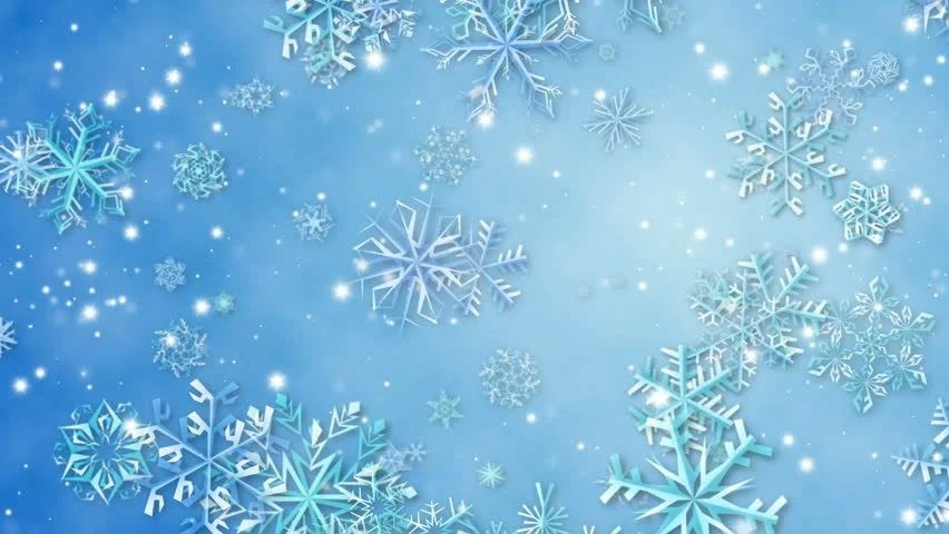 Free Download Of Christmas Wallpaper With Snow Falling White Background With Light Blue Snowflakes Falling Down