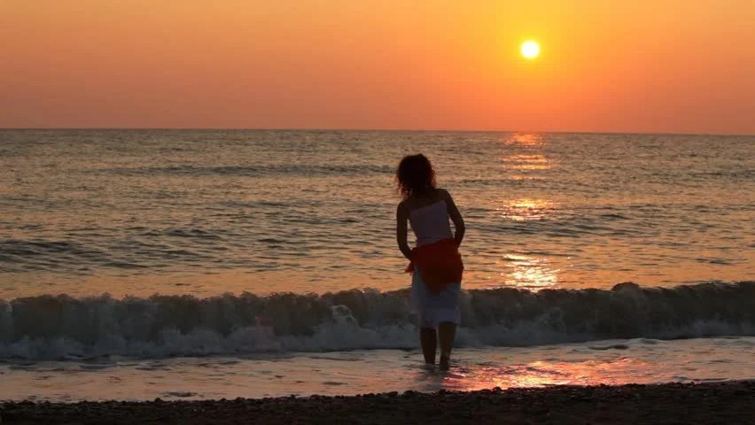 Lonely Girl Hd Wallpapers 1080p Beautiful Woman Plays Alone With Stock Footage Video 100
