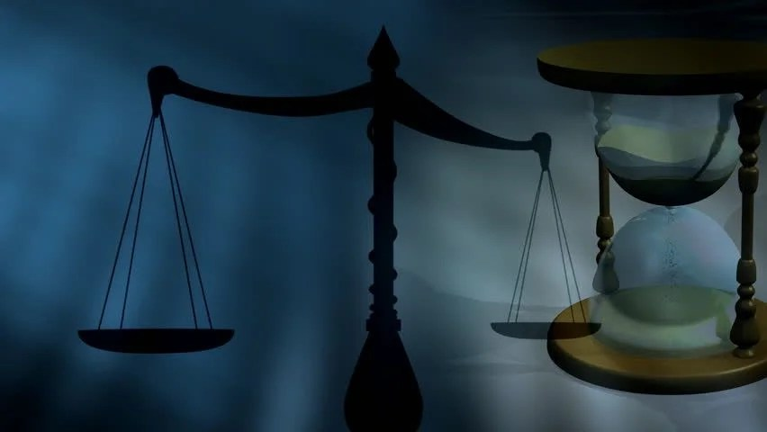 Stock video of scales of justice sands of 1491472 Shutterstock