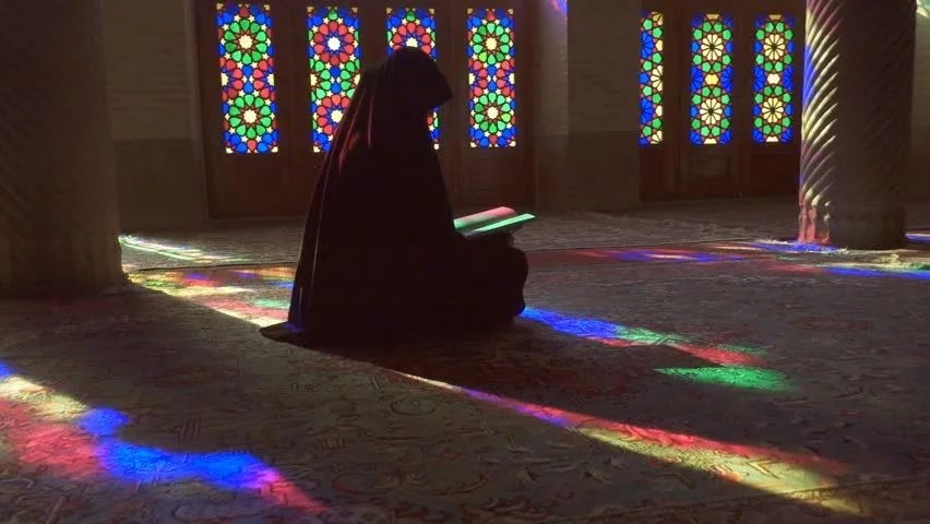 Muslim Girl In Hijab Wallpaper Shiraz Iran March 01 2016 Young Muslim Woman Praying