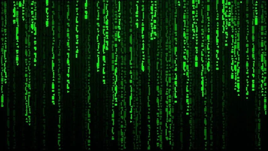 Falling Matrix Wallpaper Random Labyrinth Characters Falling Down Code Rain A