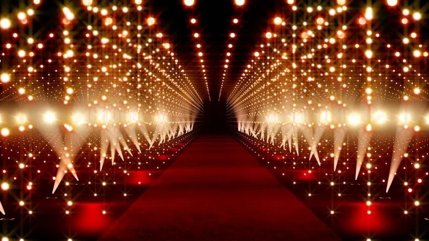 Animated Christmas Lights Wallpaper Red Carpet Festival Scene Animation Stock Footage Video