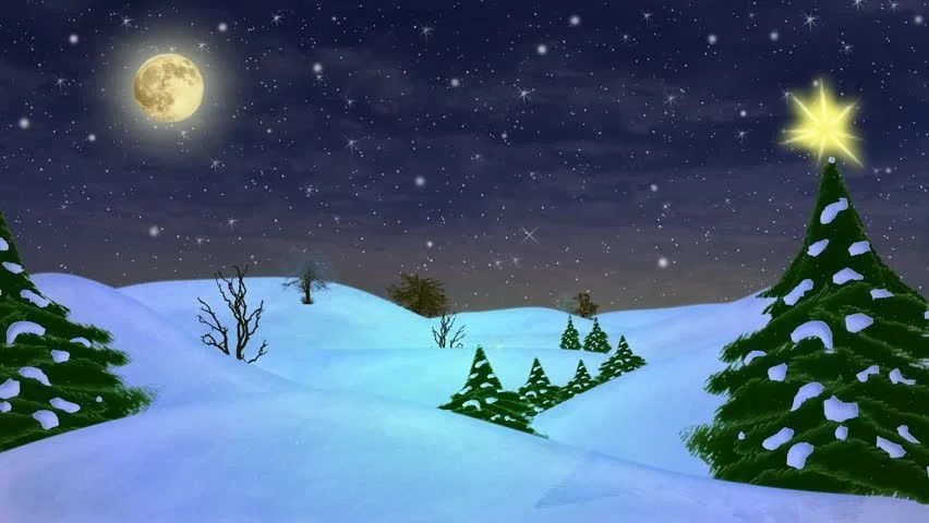 Hd- Beautiful Christmas Scene Animated Stock Footage Video (100