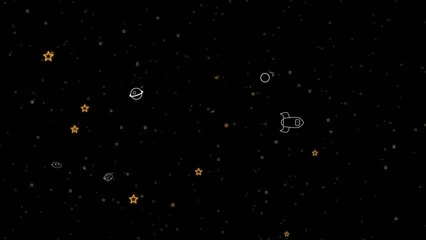 3d Moving Solar System Wallpaper 3d Circling Solar System Seamless Loopable Stock Footage