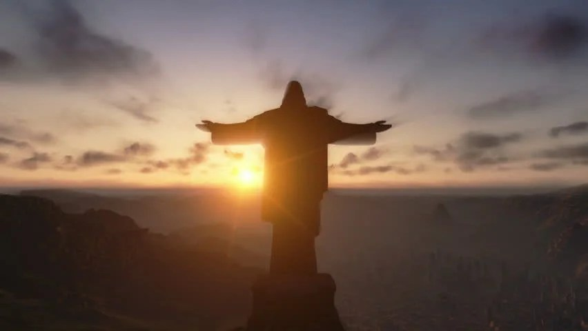 Download Happy New Year D Christ The Redemeer At Sunset Rio De Janeiro Close Up