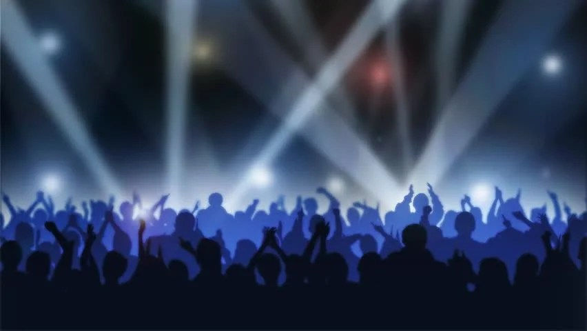 Praise And Worship Wallpaper Hd Crowd Of Cheering Silhouettes Isolated Over White Stock