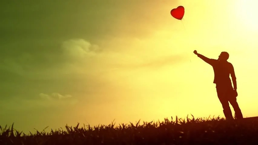 Girl Boy Sad Hd Wallpaper Lonely Sad Boy Silhouette Holding Balloons Hope Concept