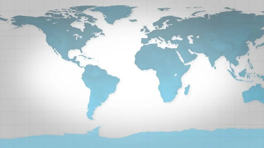 Blue Map of the World, Stock Footage Video (100 Royalty-free