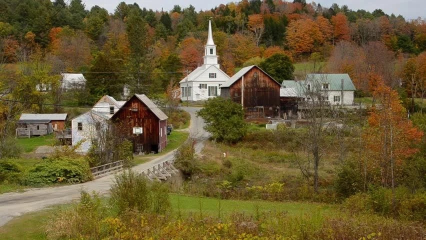 New Hampshire Fall Foliage Wallpaper Waits River Vermont Perfect New England Town With Church