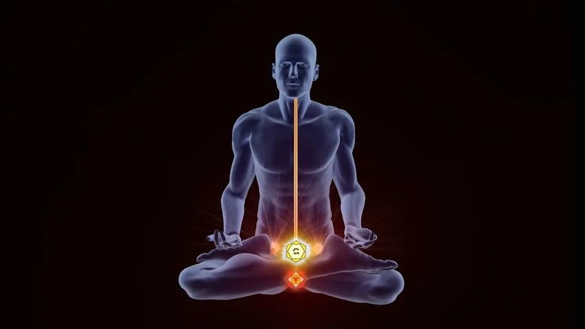 Hindu God Animation Wallpaper Seven Chakras Appearing Over A Person Gaining