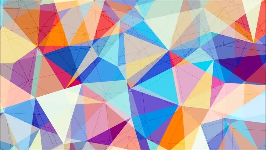 3d Colours Wallpaper Heart Abstract Background Loop Of Triangles In A Geometric