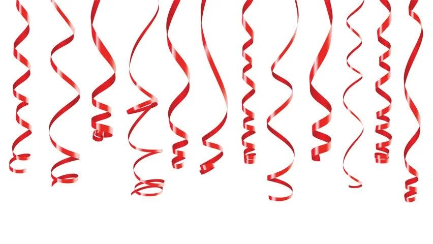 Black Pink And Silver Wallpaper Party Decorations Red Streamers Or Curling Party Ribbons