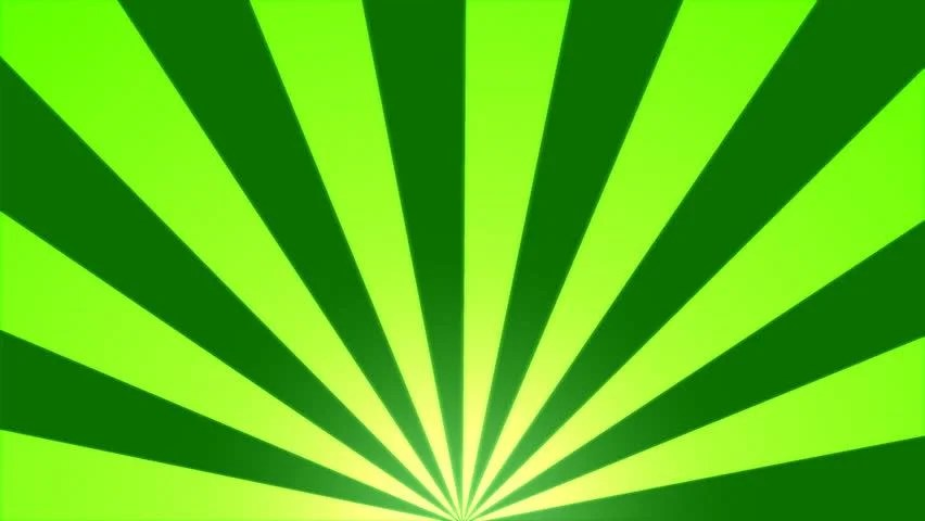 hd0016Rotating Stripes Background Animation - Loop Green