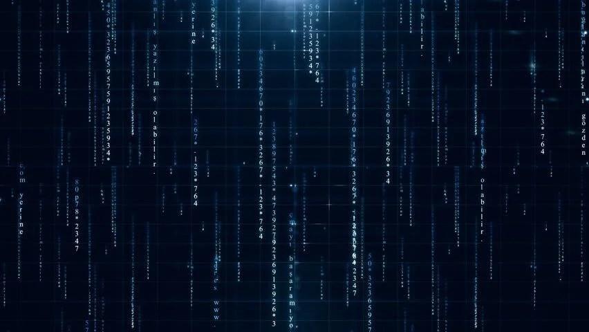 Matrix Falling Code Wallpaper Download Binary Digital Tech Data Code Computer Stock Footage Video