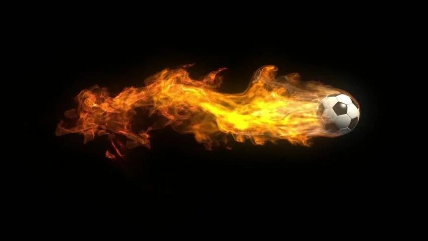 3d Moving Fireplace Wallpaper Burning Soccer Ball Stock Footage Video 4638638 Shutterstock