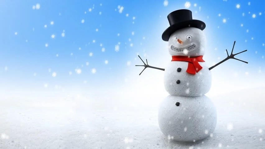 Free Download Of Christmas Wallpaper With Snow Falling Snowman And Snowing Background Pan Right Christmas