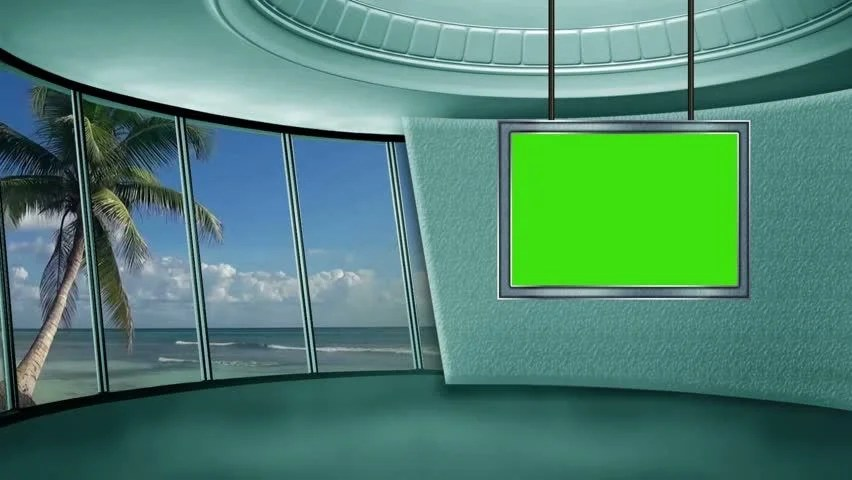 3d Effect Wallpaper For Living Room News Tv Studio Set Virtual Green Screen Background Loop