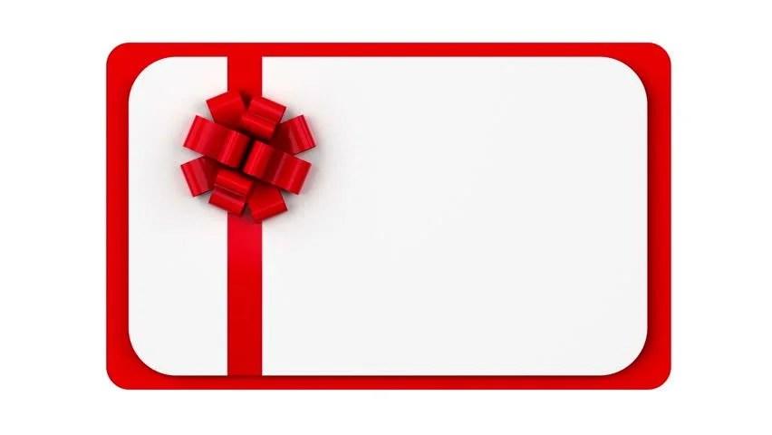 Blank Gift Card Animation Video de stock (totalmente libre de