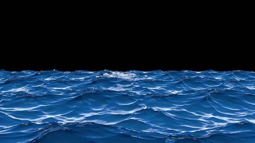 3d Beach Wallpaper Cost Blue Sea Landscape Waves Background Loop Background